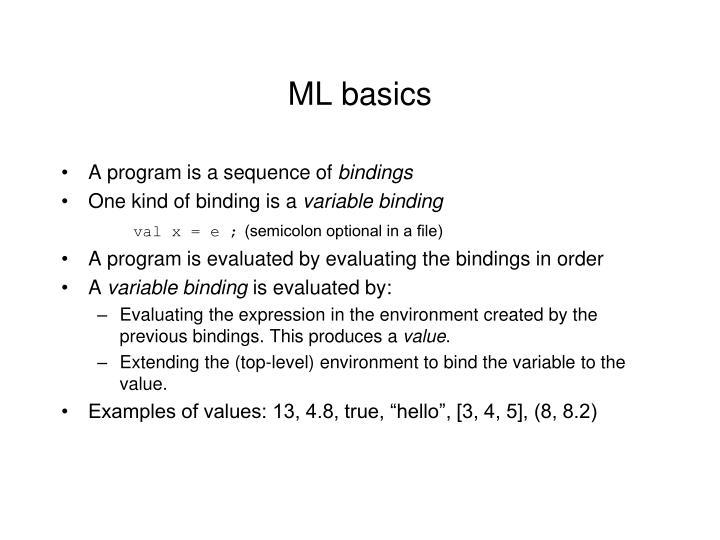 ML basics