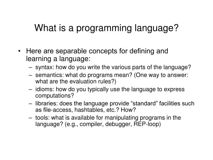 What is a programming language