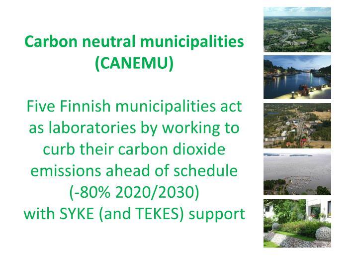 Carbon neutral municipalities (CANEMU)
