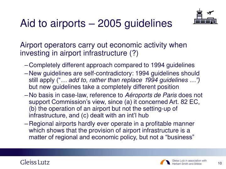 Aid to airports – 2005 guidelines