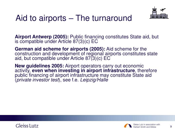Aid to airports – The turnaround