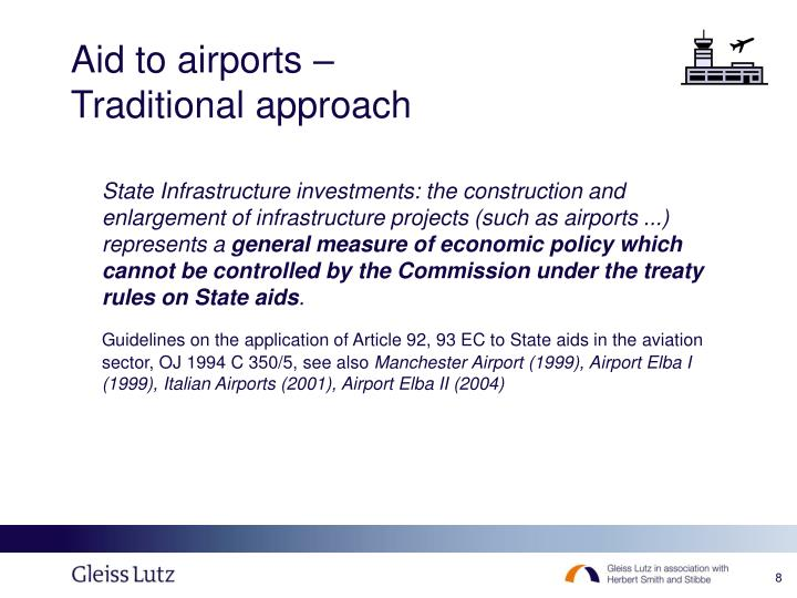 Aid to airports –