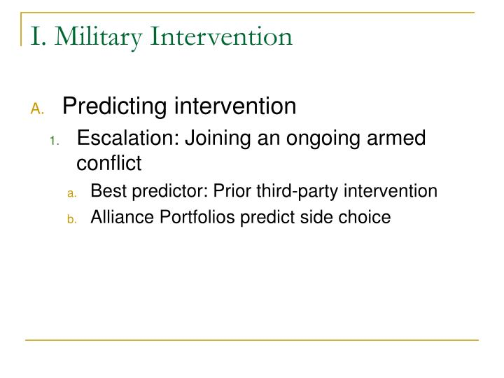 I military intervention