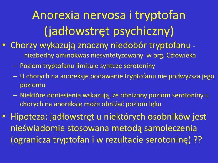 Anorexia nervosa i tryptofan