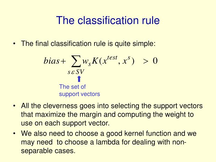 The classification rule