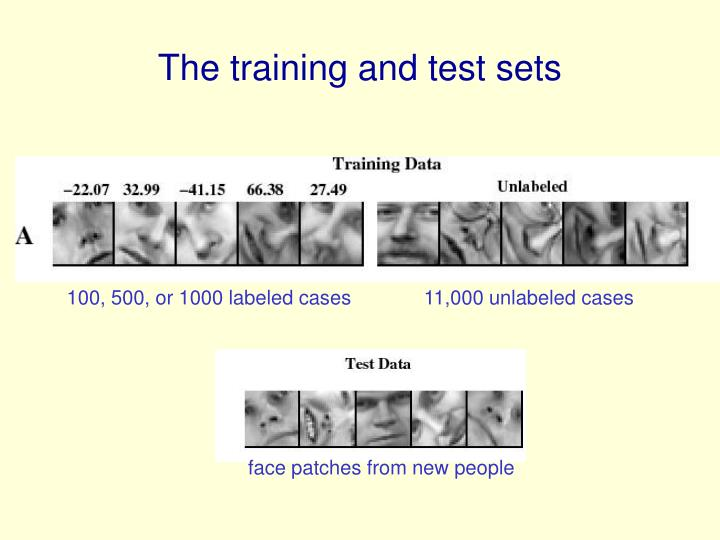 The training and test sets