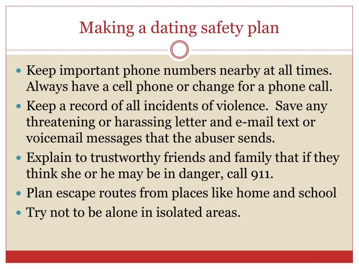 Dating safety plan