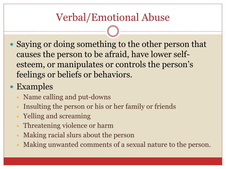 an analysis of the topic of the verbal and emotional abuse