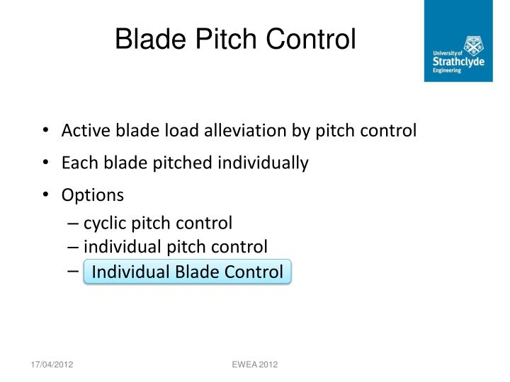 Blade Pitch Control