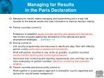 managing for results in the paris declaration