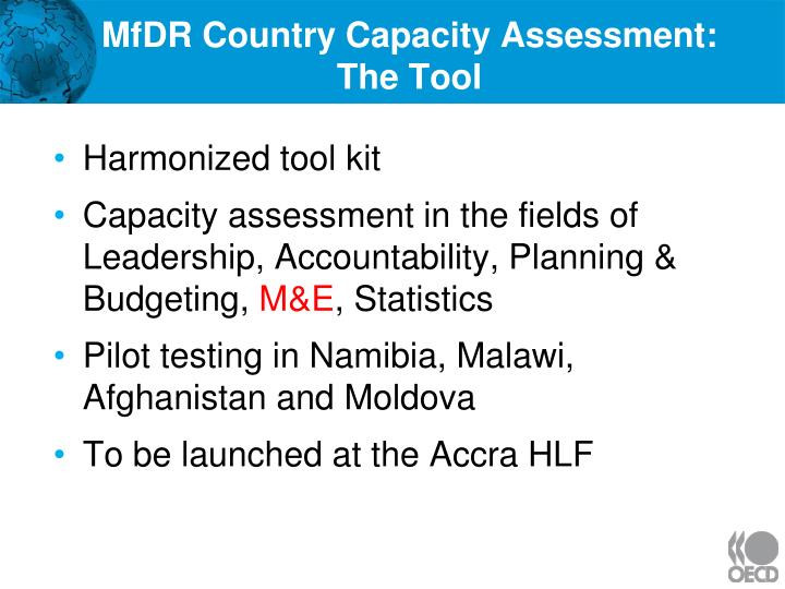 MfDR Country Capacity Assessment: