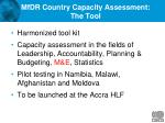 mfdr country capacity assessment the tool