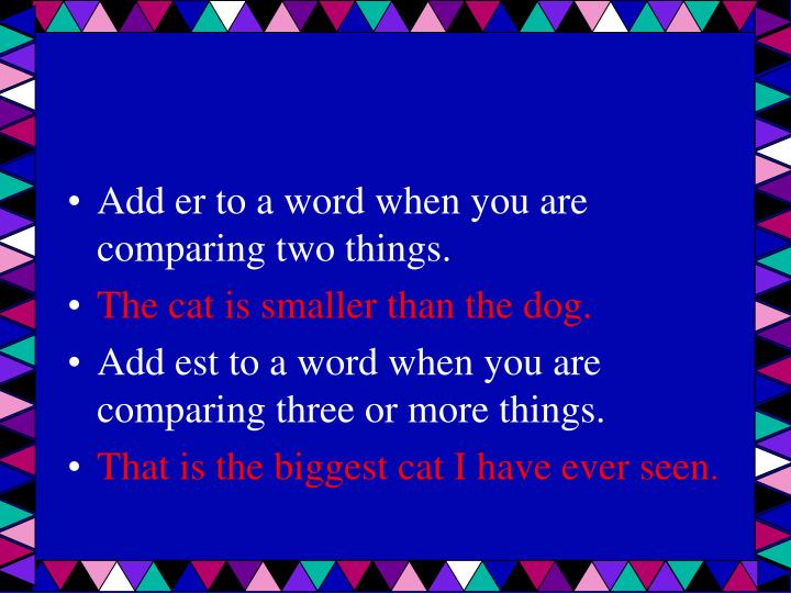 comparing endings Segment 3 of adjectives for armando big bigger biggest | small smaller smallest | size for kids | big and small | bigger and smaller - duration: 1:34 learning time fun 221,936 views.