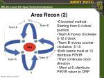 area recon 2