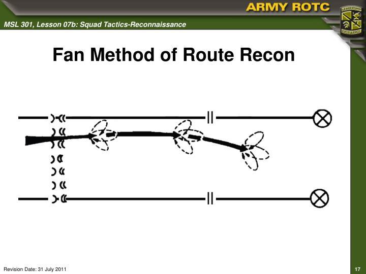 Fan Method of Route Recon