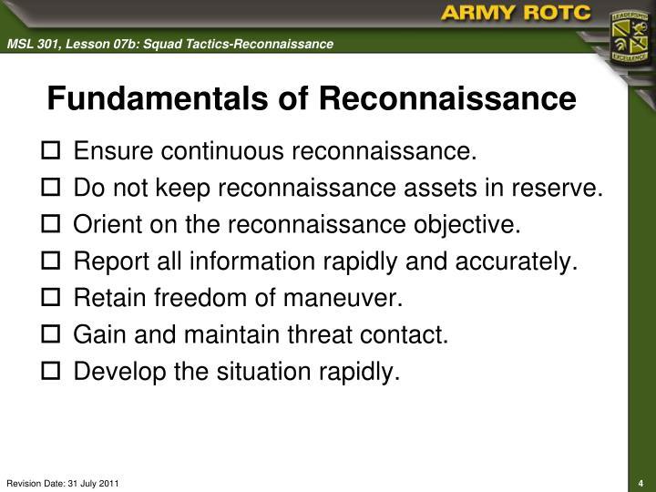 Fundamentals of Reconnaissance