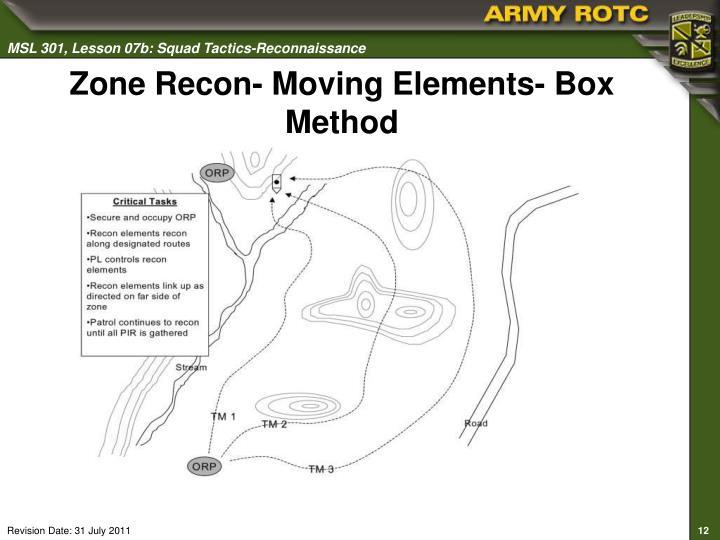 Zone Recon- Moving Elements- Box Method