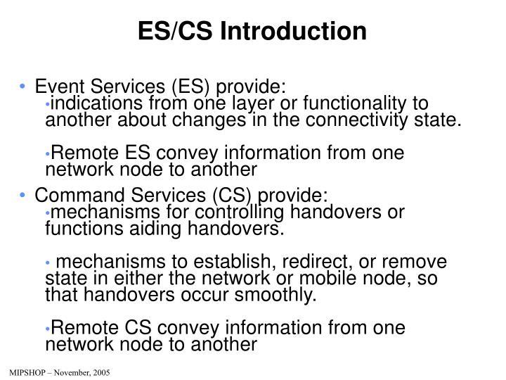ES/CS Introduction