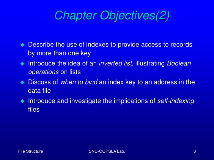 Chapter Objectives(2)