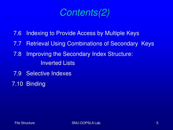 Contents(2)