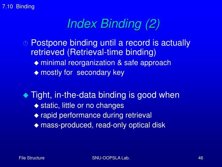 7.10  Binding