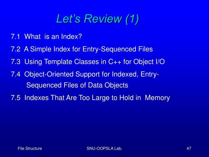 Let's Review (1)