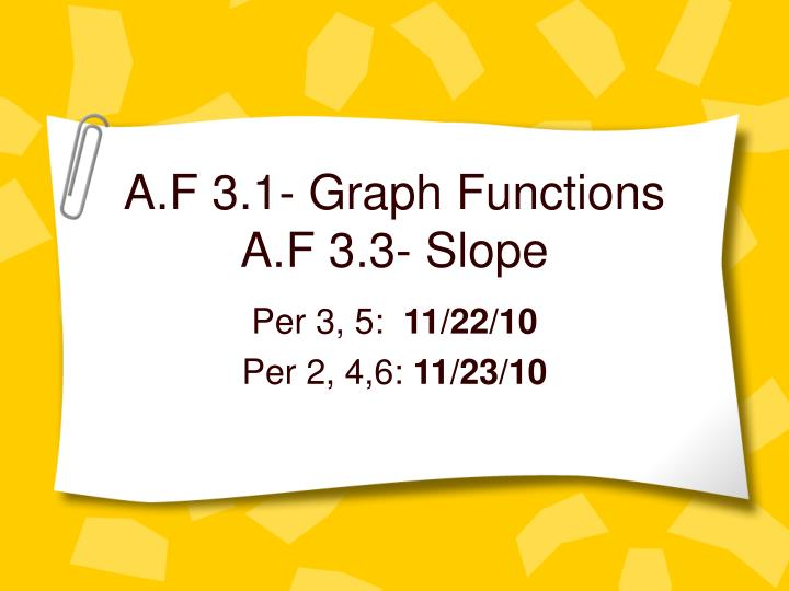 a f 3 1 graph functions a f 3 3 slope