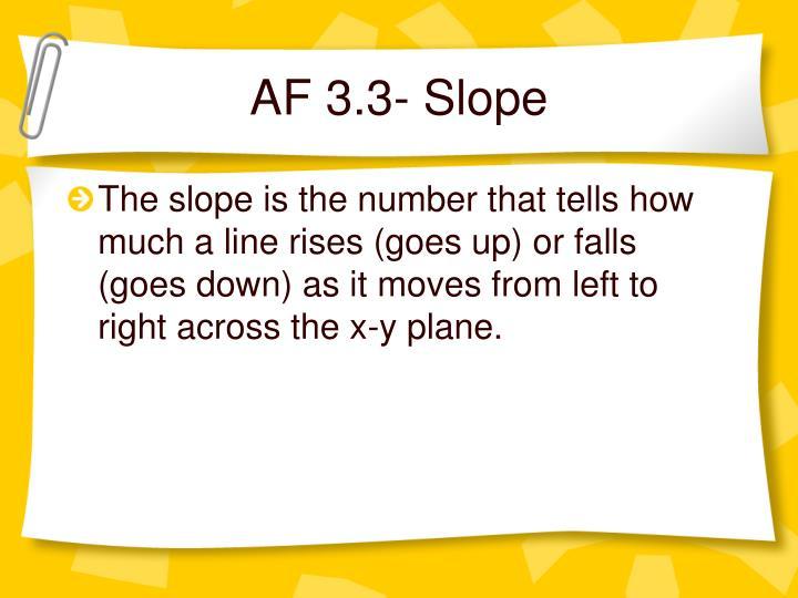 AF 3.3- Slope