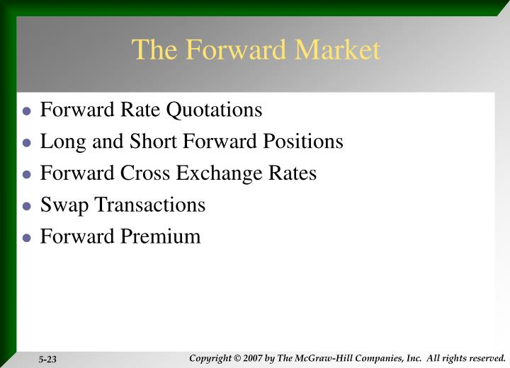 The Forward Market