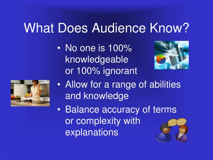 What Does Audience Know?
