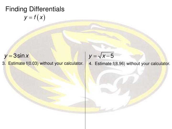 Finding Differentials