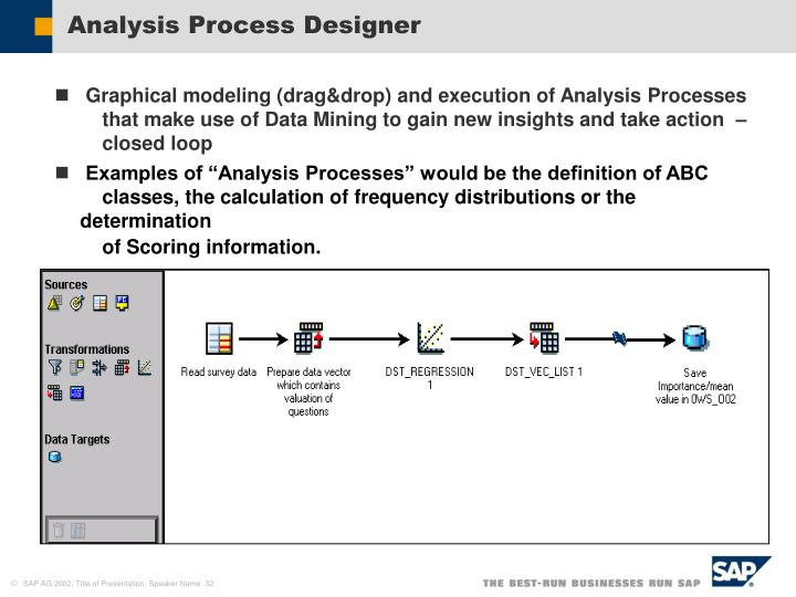 Analysis Process Designer