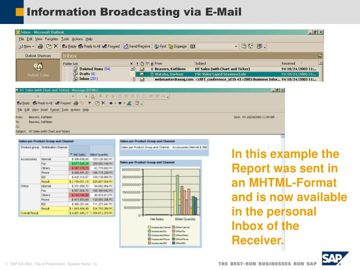 Information Broadcasting via E-Mail