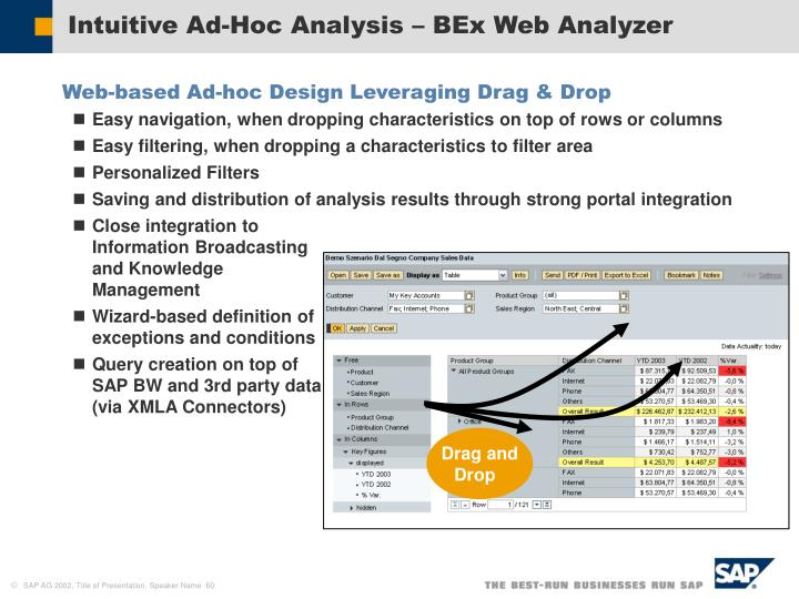 Intuitive Ad-Hoc Analysis – BEx Web Analyzer