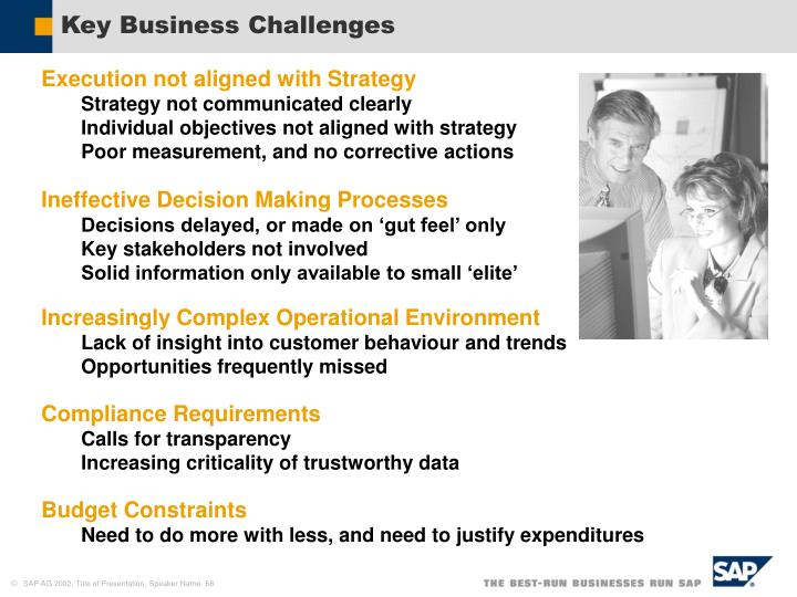 Key Business Challenges