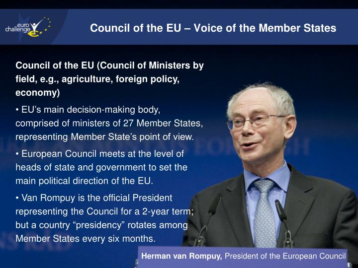Council of the EU – Voice of the Member States