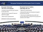 european parliament and european court of justice