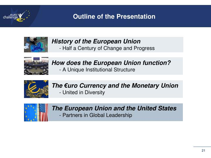 Outline of the Presentation