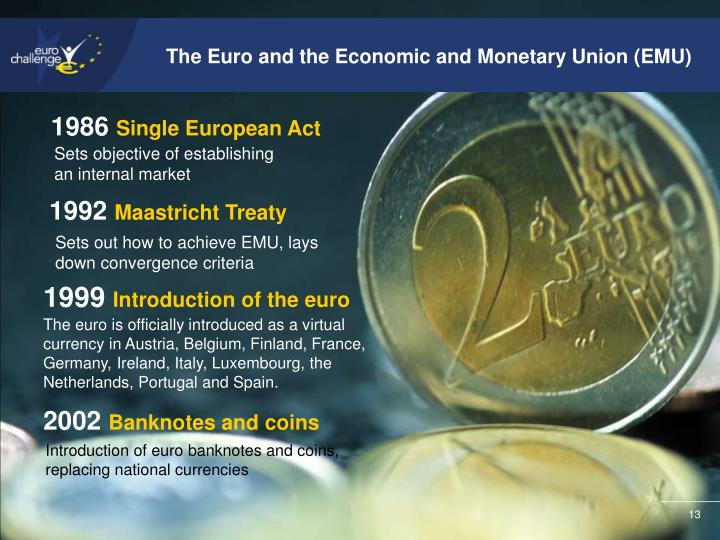 The Euro and the Economic and Monetary Union (EMU)
