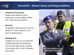us and eu shared values and responsibilities