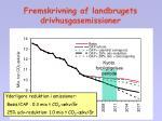 fremskrivning af landbrugets drivhusgasemissioner