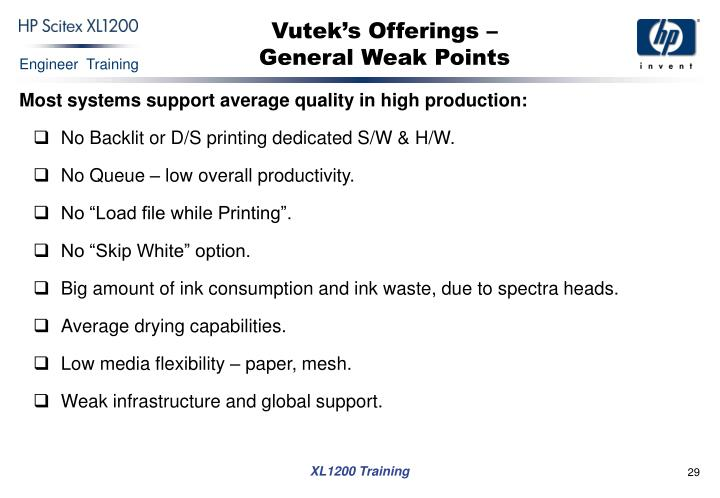 Vutek's Offerings –
