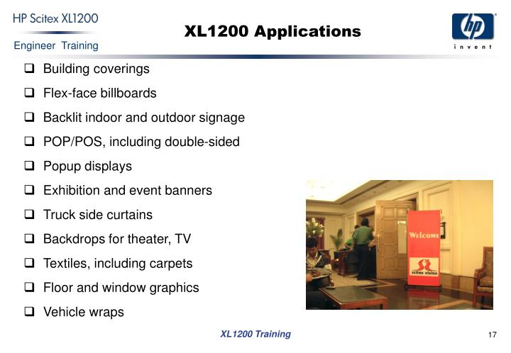 XL1200 Applications