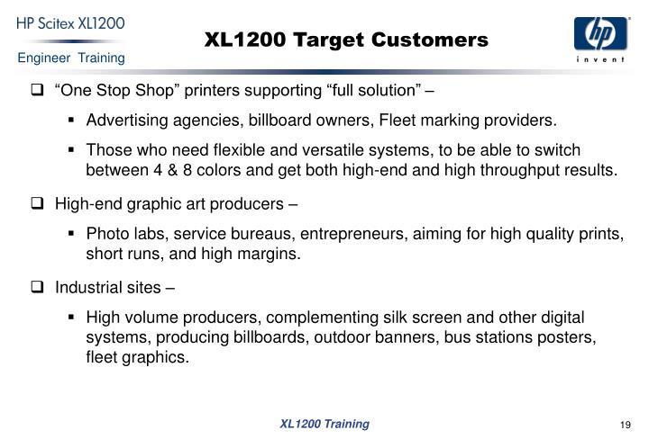 XL1200 Target Customers