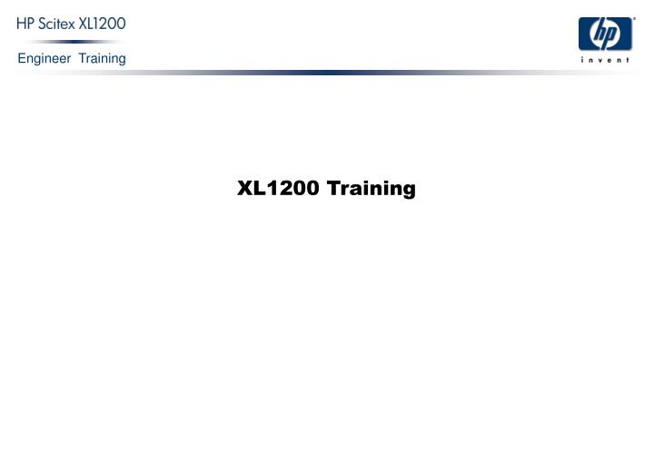 XL1200 Training