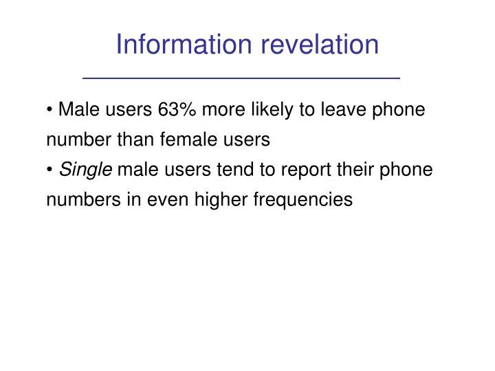 Information revelation