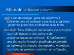 mitos do software cliente