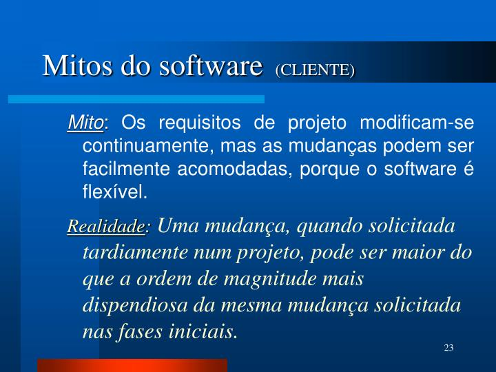 Mitos do software