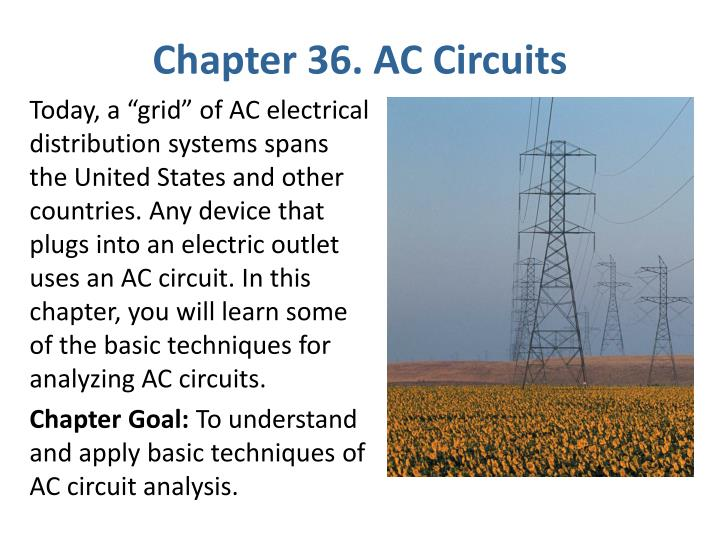 chapter 36 ac circuits