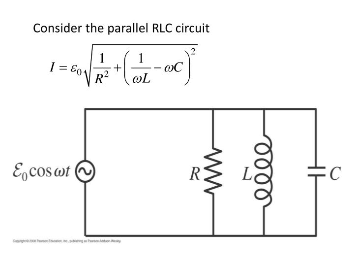 Consider the parallel RLC circuit